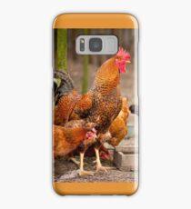Rhode Island Red chickens Samsung Galaxy Case/Skin
