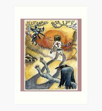 Cross Ghost Gram Parsons Art Print