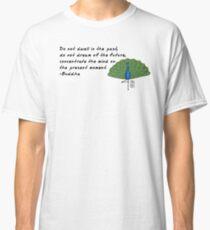 Peacock Zenimal with Buddha Quote Classic T-Shirt