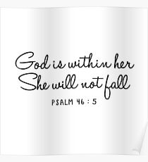 Psalm 46:5 Poster