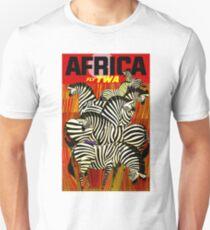 """TWA"" Fly to Africa Travel Print Unisex T-Shirt"