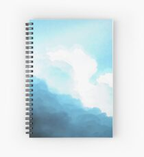 Cuaderno de espiral nubes cian estéticas