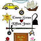 Captain Swan Comic Icons Vertical Design by Marianne Paluso