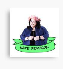 kate pearson flower crown sticker Canvas Print