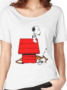 Snoopy and Hobbes Women's Relaxed Fit T-Shirt