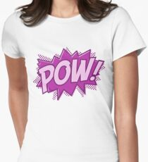 POW! COMIC BOOK Graphic Women's Fitted T-Shirt