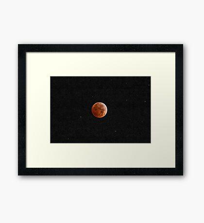 Redhead in the Stars Framed Print