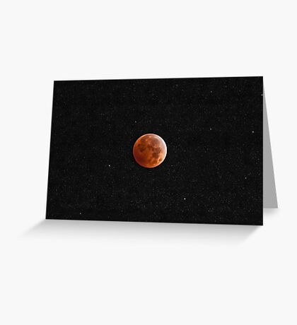 Redhead in the Stars Greeting Card