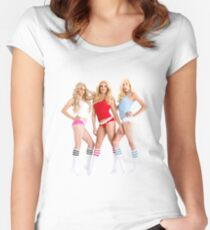 AMERICAN APPAREL AD GIRLS Women's Fitted Scoop T-Shirt