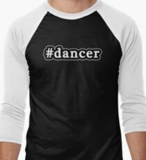 Dancer - Hashtag - Black & White Men's Baseball ¾ T-Shirt