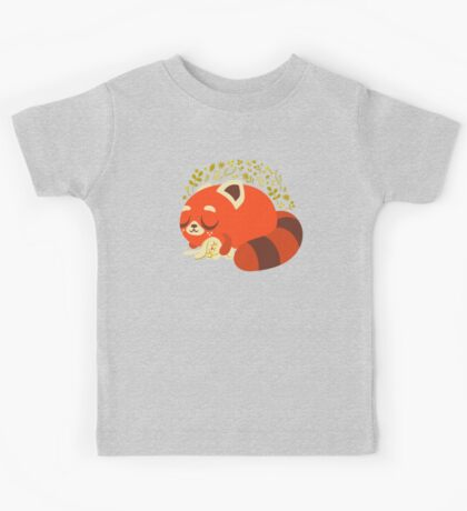 Sleeping Red Panda and Bunny Kids Clothes
