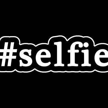 Selfie - Hashtag - Blanco y negro de graphix