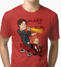 Mulder and Scully Tri-blend T-Shirt