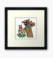 Scooby and Shaggy Framed Print