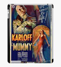 Mummy Boris Karloff Movie Vintage Poster iPad Case/Skin