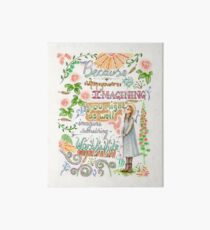 Anne of Green Gables quote                                                                                                 Art Board