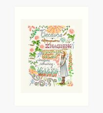 Anne of Green Gables quote                                                                                                 Art Print
