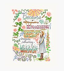 Anne of Green Gables quote                                                                                                 Photographic Print