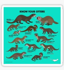 Know Your Otters Sticker