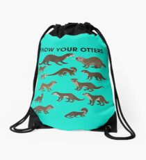 Know Your Otters Drawstring Bag
