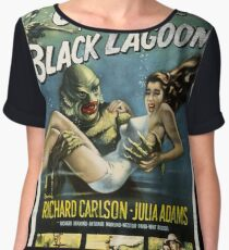 Creature From The Black Lagoon Vintage Poster Chiffon Top