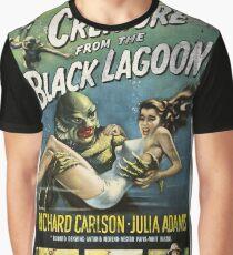 Geschöpf vom schwarzen Lagune-Weinlese-Plakat Grafik T-Shirt