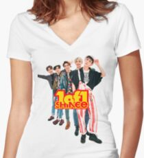 SHINee 1of1 . Women's Fitted V-Neck T-Shirt