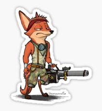 Chase the Steampowered Fox Sticker