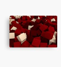 3d bulk of red and beige cubes Canvas Print