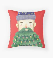 Hipster Christmas Throw Pillow