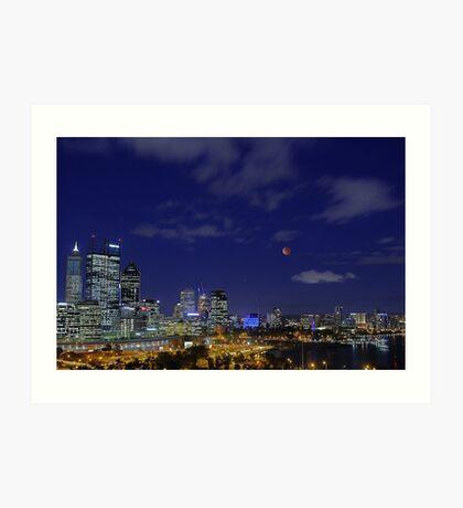 Lunar Eclipse - Perth Western Australia  Art Print