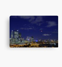 Lunar Eclipse - Perth Western Australia  Canvas Print