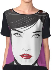 Cat Woman - Nagel Style Women's Chiffon Top