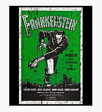 Frankenstein Boris Karloff Movie Vintage Poster Photographic Print