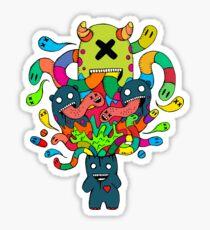 Monster Brains Sticker