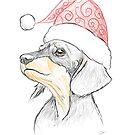 Dachshund Christmas Puppy by dvampyrelestat