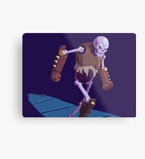 Skeleton Warrior Metal Print