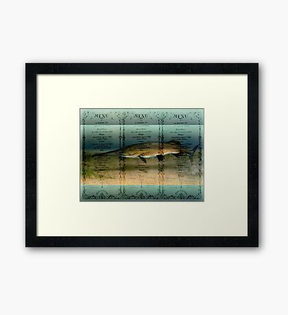 Today's Special Framed Print
