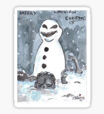 whovian christmas Sticker