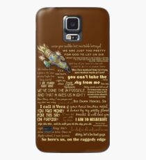 Firefly quotes Case/Skin for Samsung Galaxy