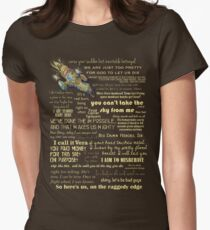 Firefly quotes Women's Fitted T-Shirt