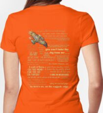 Firefly quotes Womens Fitted T-Shirt