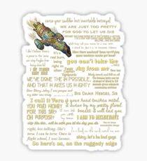 Firefly quotes Sticker