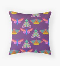 Moths Throw Pillow