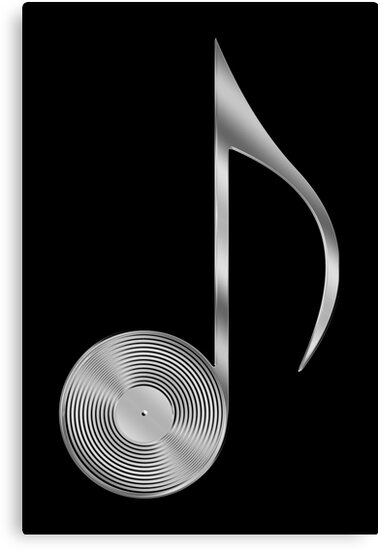 Vinyl Record Musical Eighth Note