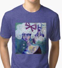 Overshadowed, Underwhelmed - lowbrow dark art by Ela Steel Tri-blend T-Shirt