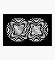 Schallplatte Infinity - Mobius Strip - Metallic - Silber Fotodruck