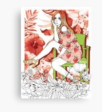 Girl's Diary Collection - Strawberry Canvas Print