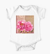 Sunlit magenta pink peony flowers, floral art Kids Clothes
