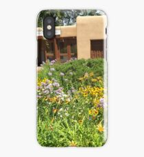 Colorful Garden and Flowers, Santa Fe, New Mexico iPhone Case/Skin